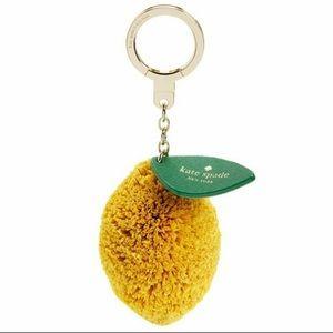 Kate Spade raffia lemon key fob